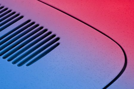 vehicle panel abstract with gradient color from blue to red photo