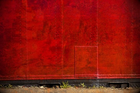 abstract red metal barrier with grunge texture photo