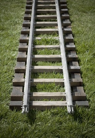narrow gauge: end of the line for a narrow gauge railroad track