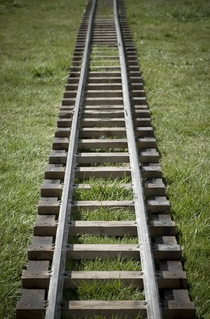 narrow gauge: narrow gauge railroad track Stock Photo