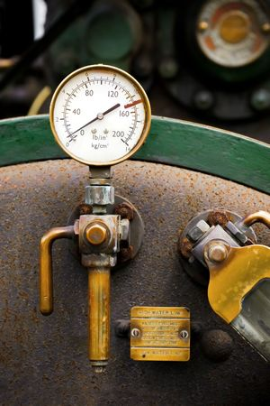 traction engine: steam powered traction engine boiler pressure gauge
