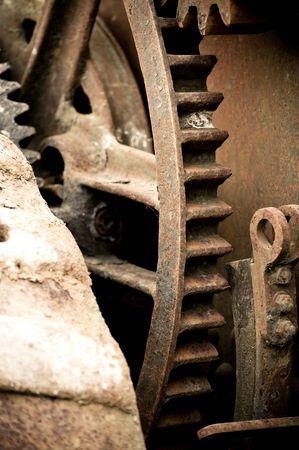 rusting old industrial machine cog wheel background Stock Photo - 7199635