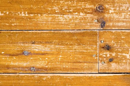 tarnished: background of distressed wood panel flooring