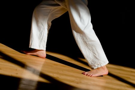 legs and feet of a female karate student Stock Photo - 7326268