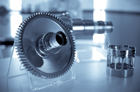 precision engineering parts as used in the aviation industry Stock Photo - 7782254
