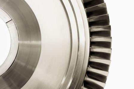 jet engine turbine blade isolated on white photo
