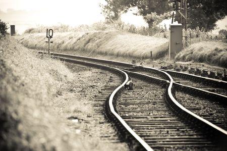 Old fashioned Gleiskörper Zusammenführen in einem Standard-Bild - 8239867
