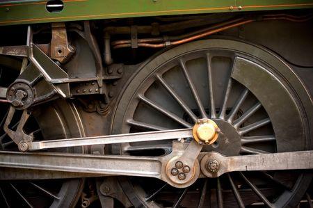 wheel detail of a vintage steam train locomotive Stock Photo - 8239874
