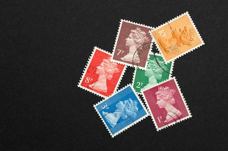 queen elizabeth: small collection of UK printed Queen Elizabeth II design stamps