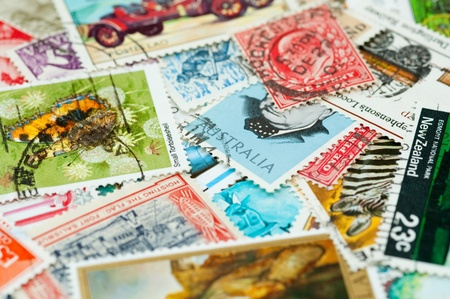 collection of 20th century postage stamps from various countries Stock Photo - 8655387