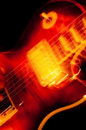 vivid rock and roll guitarist abstract photo
