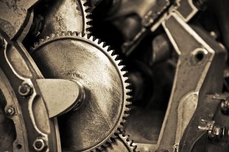 tandwielen: Vintage machine tandwielen met ondiepe d.o.f