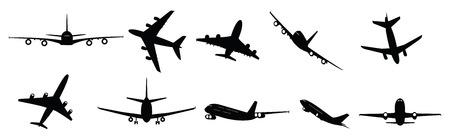 aerei: collezione di aerei passeggeri illustrati getto