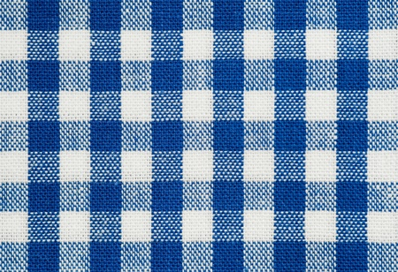 gingham: background of blue and white check tablecloth fabric