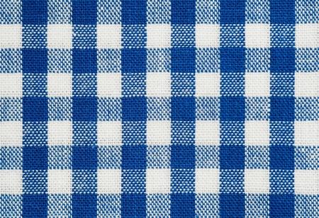 Hintergrund des blauen und weißen tischtuch Stoff überprüfen Standard-Bild - 9104616