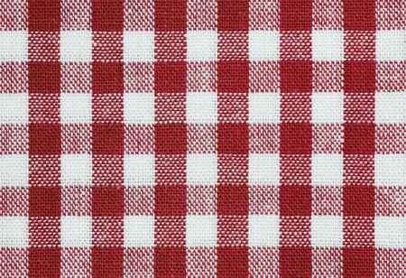 background of red and white check tablecloth fabric photo