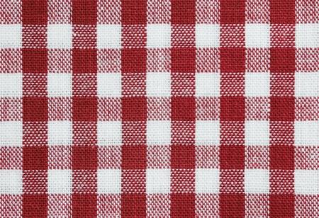 Hintergrund des roten und weißen tischtuch Stoff überprüfen Standard-Bild - 9104615