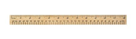 twaalf inch meting liniaal geïsoleerd op wit Stockfoto