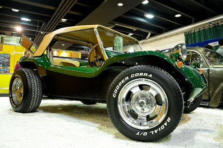 Volksworld Show, Sandown Park, UK - March 26, 2011: A custom built Dune Buggy on display at the Volkswagen vehicle show. Stock Photo - 9205025