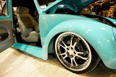 Volksworld Show, Sandown Park, Reino Unido - el 26 de marzo de 2011: Personalizados escarabajo en exhibici�n en el Sal�n del autom�vil VW Volksworld. Foto de archivo - 9205026