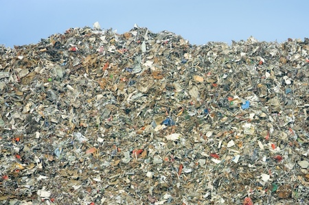 landfill site: enorme mucchio di discarica rifiuti - no marchi visibili in decomposizione