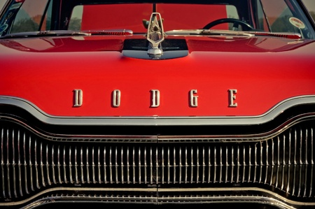 dodge: Farnborough, UK - APRIL 22, 2011: Vintage Dodge automobile on display at the annual Wheels Day auto show, Farnborough, UK.