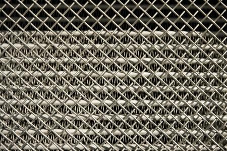 chromed: chromed vehicle radiator grille closeup