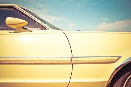 Style rétro véhicule panneau agrandi vers 1960 de l'ère Banque d'images - 9529151