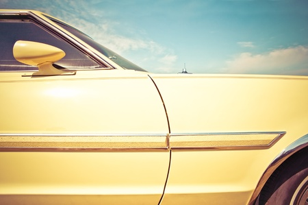 coche clásico: veh�culo grupo closeup alrededor de la �poca de los a�os 60 de estilo retro