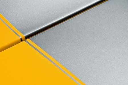 yellow and gray glittering vehicle panel background photo