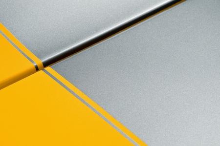 yellow and gray glittering vehicle panel background photo
