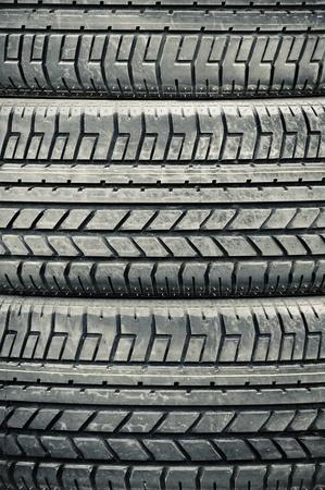 high contrast heavy duty vehicle tires closeup Stock Photo - 9751913