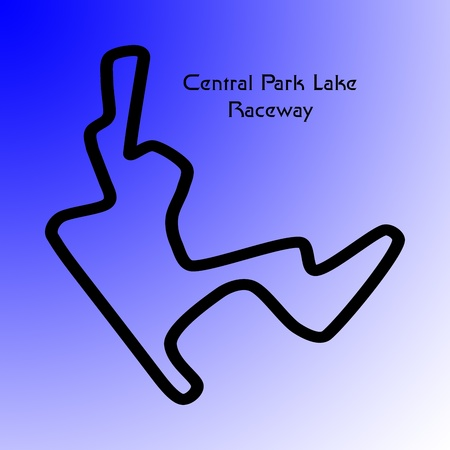 central park: fictional motorsport raceway track based on the shape of the central park lake in manhattan, new york Stock Photo