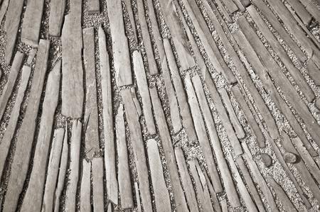 текстуры: фон шифер штук, установленных в гравийном пути
