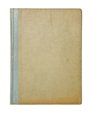 hardback: vintage hardback book cover isolated on white