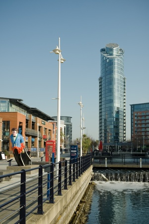 portsmouth: Portsmouth, UK - February 1, 2012: Urban rejuvenation of the historic Gunwharf Quays in Portsmouth. Editorial
