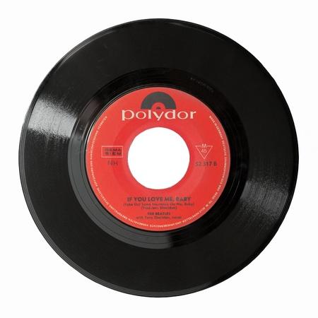 Allemagne - vers 1964: The Beatles - If You Love Me Baby, un des rares 45 tours sorti en single en Allemagne mettant en vedette la chanteuse Tony Sheridan.