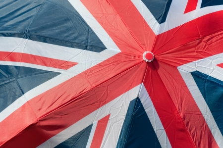union flag of great britain printed on an umbrella photo