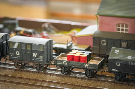 haulage: freight train detail on a model railway