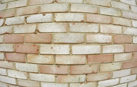 background abstracts: building exterior brick wall fish-eye abstract