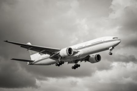 aviones pasajeros: tonos sepia pasajero sin marcas de aterrizaje de avi�n