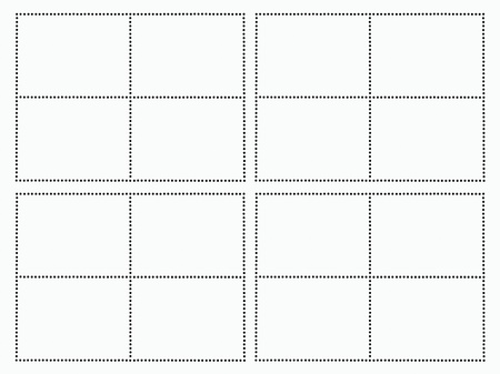 perforation: imperfect perforation template derived from real postage stamps