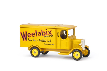 morris: Vintage Lledo manufactured 1931 Morris delivery van with Weetabix breakfast cereal livery Editorial