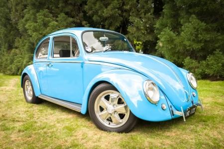 escarabajo: Winnersh, Reino Unido - 18 de mayo de 2013: Custom acabado clásico VW Escarabajo Mk I, parte de una colección de vehículos clásicos y modernos se muestra para caridad en Bearwood College en Winnersh, Reino Unido Editorial