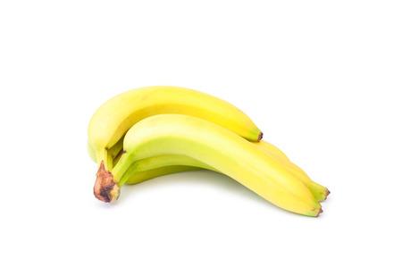 fairtrade: small bunch of fair-trade bananas isolated on white Stock Photo