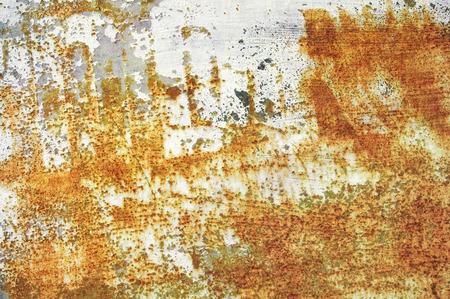 rusting: rusting metal and peeling paintwork grunge background