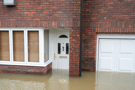 Windsor, UK - 11 February, 2014 - One of many flooded homes after the River Thames burst its banks near Windsor, UK Editorial