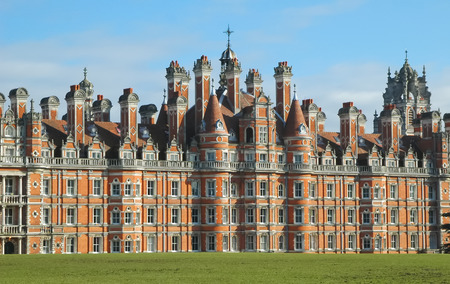 Egham, UK - February 14, 2009  Victorian grandeur of the Royal Holloway building, part of the University of London campus Stock Photo - 27793769