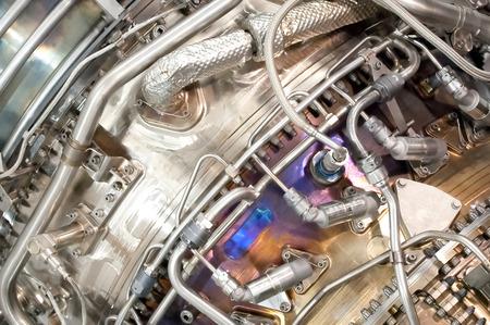 Kompleks hydrotechniczne wewnątrz silnika odrzutowego lotnictwa