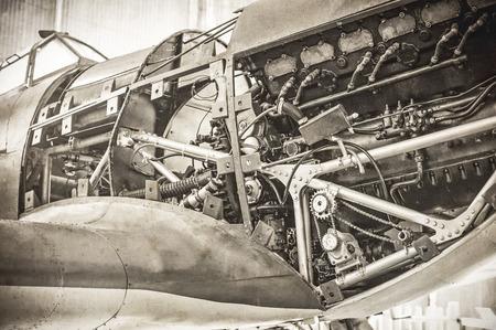 avion de chasse: moteur de mill�sime tonique WW2 fighter plane Banque d'images